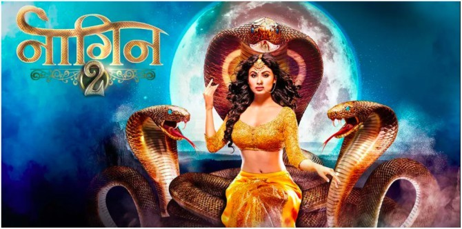 A clip of the popular fictional show Naagin.