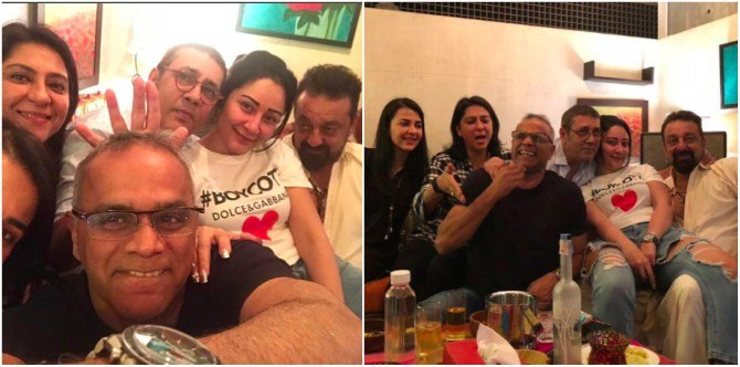 Family comes together to celebrate Sanjay Dutt and Maanayata's 10th wedding anniversary