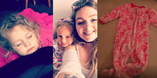 3-year-old almost choked by her onesie when sleeping