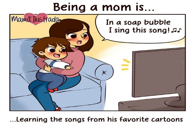 Moms know the words to their kids' favorite TV show theme song whether they like it or not