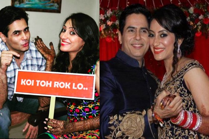 45-year-old actor Aman Verma finally ties the knot with onscreen sister Vandana Lalwani! (Pics Inside)