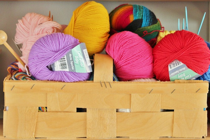 Sewing or knitting together
