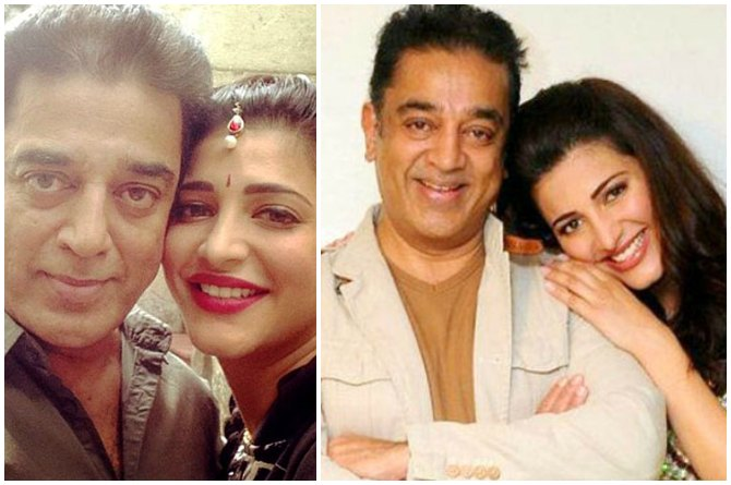 Shruti and Kamal Haasan
