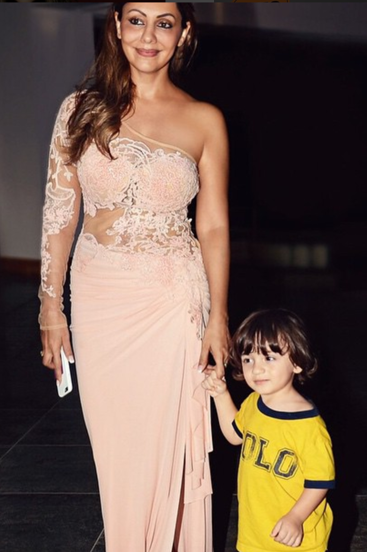 Gauri beams with the youngest one