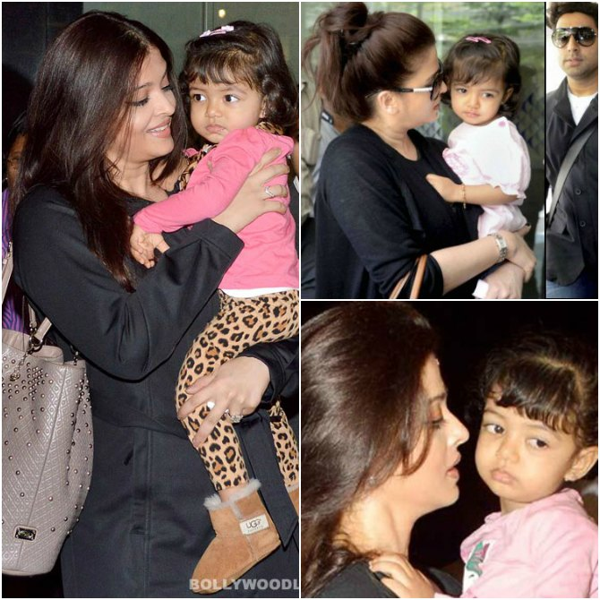 Beacuse she cannot have her eyes off Aaradhya
