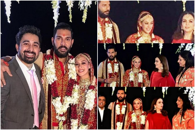 Yuvraj and Hazel with guests
