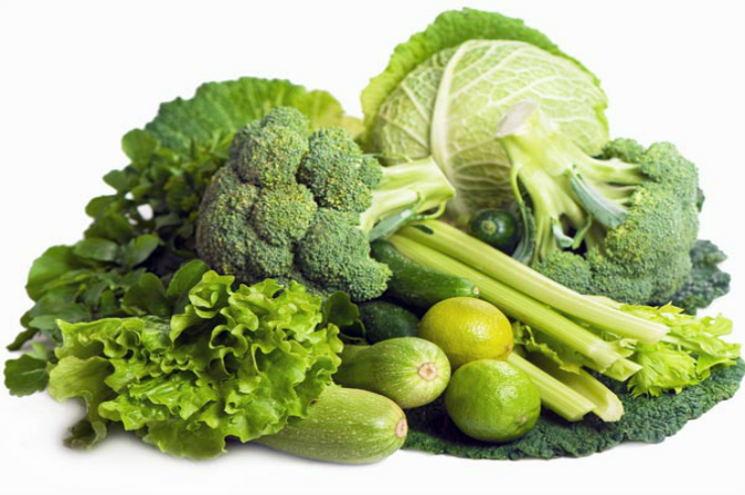 Leafy greens and other veggies