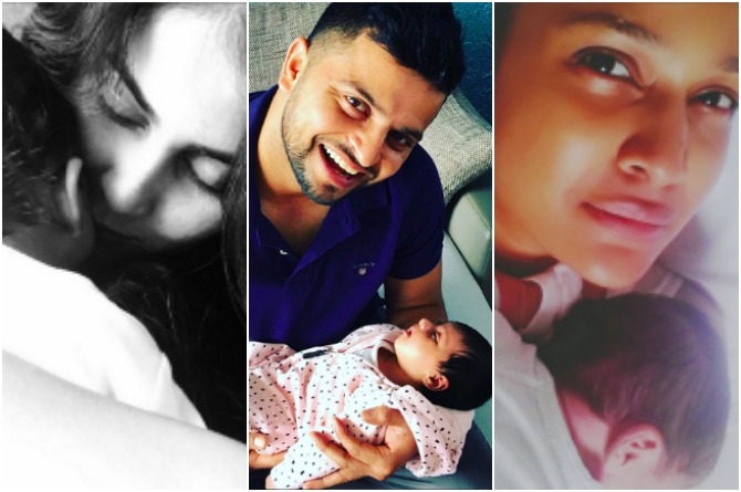 These celeb babies made their debut on social media just days after birth!