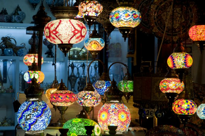 Ornate lamps/ lampshades