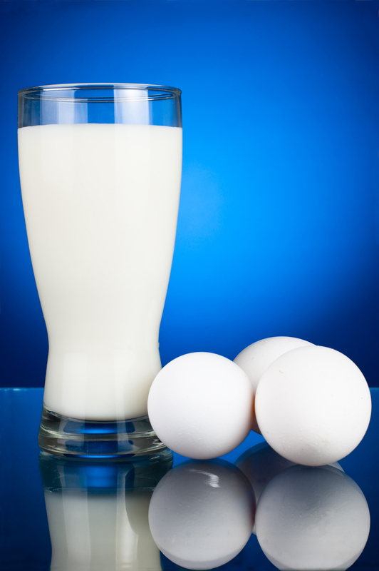 Raw egg fortified beverages