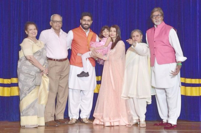 Entire Bachchan clan turns up for Aaradhya's annual day!