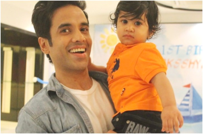 The hands-on daddy: Tusshar Kapoor