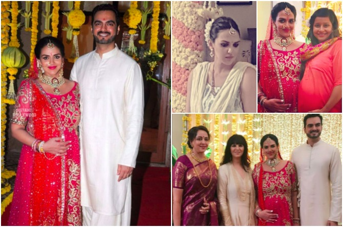 Finally! Esha Deol looks like a queen at her godh bharai and second marriage ceremony