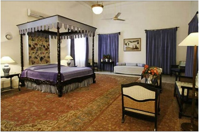 The Pataudi Palace bedrooms