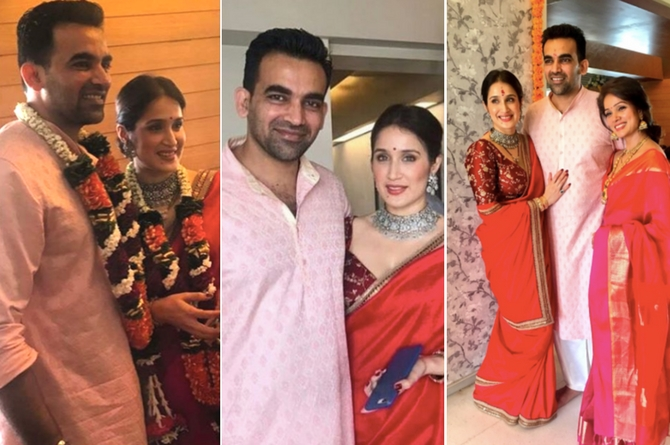 Here comes Mrs and Mr Khan! Sagarika and Zaheer tie the knot in a small ceremony