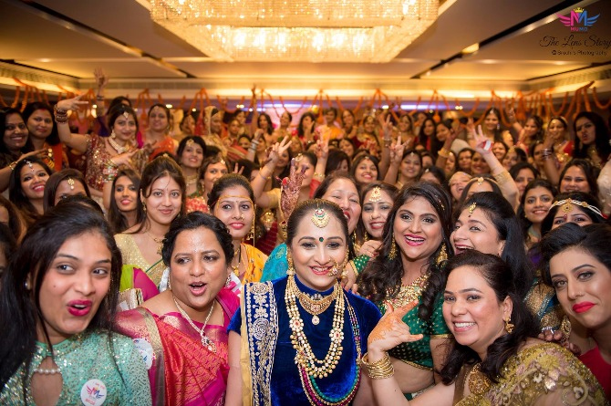 In Pics: 382 women come together at Mumbai's largest Karwachauth bash!