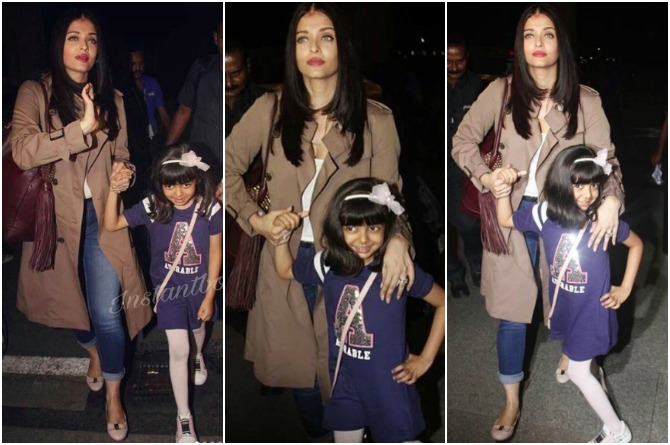 In pics: Aaradhya steals the show as the best poser as she travels with mum Aishwarya to Cannes