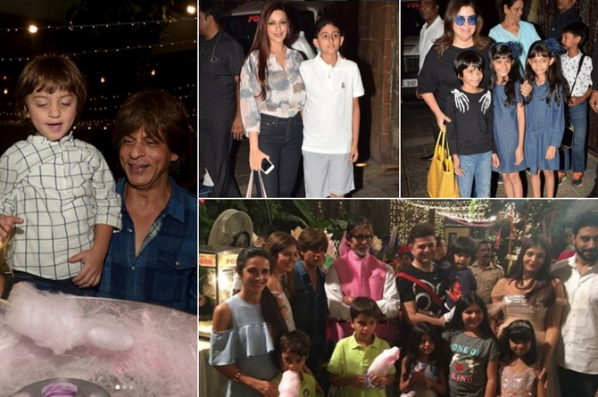 Starry friends come to wish Aaradhya