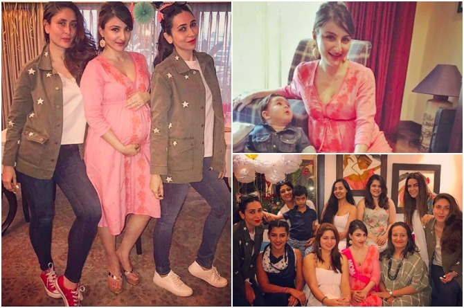 In Pics: Adorable Taimur Steals The Limelight At Bua Soha Ali Khan's Amazing Baby Shower!
