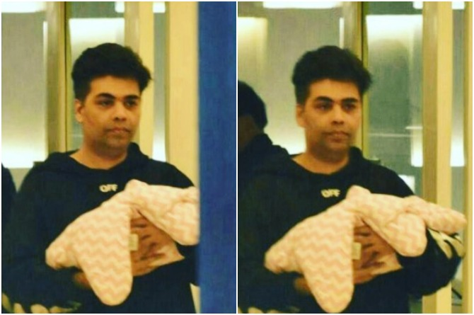 In Pics: An Emotional New Dad Karan Johar Finally Brings His Twins Home