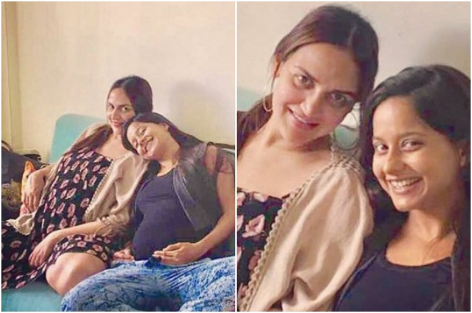 Esha Deol is twinning with her expecting best friend