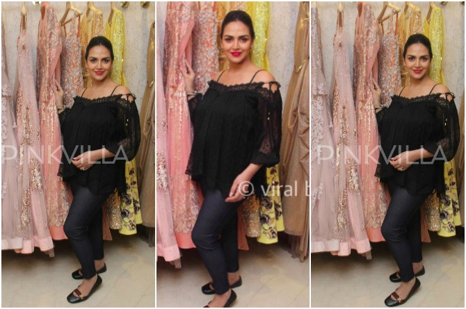 Esha selects the perfect baby shower look