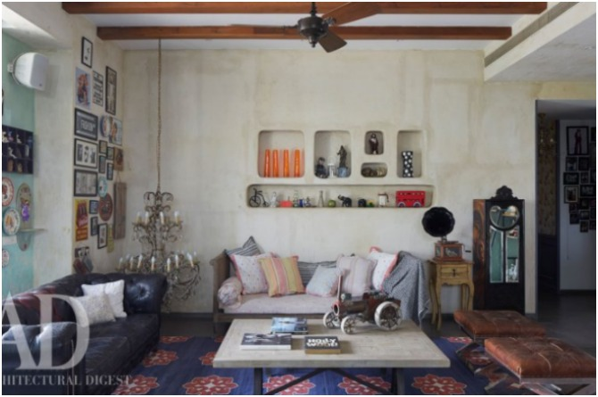 The eclectic drawing room