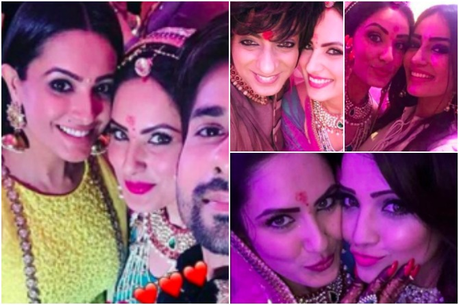 Telly stars descend to wish the couple
