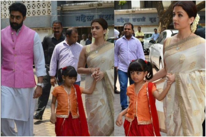 In pics: Smiling Aaradhya Bachchan's final homage to her dodda will make you emotional