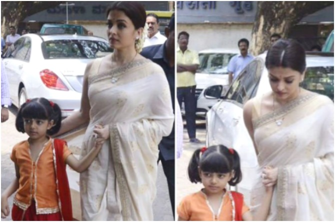Aaradhya clings on to mum