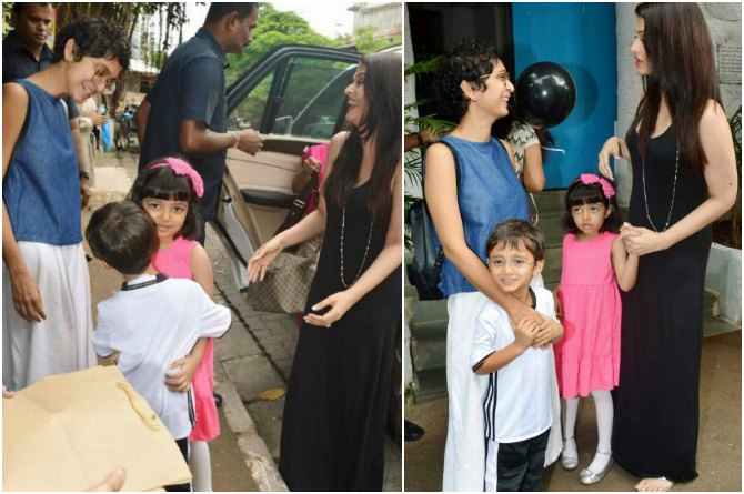 In Pics: When Azad Rao Khan met Aaradhya Bachchan at a birthday party!