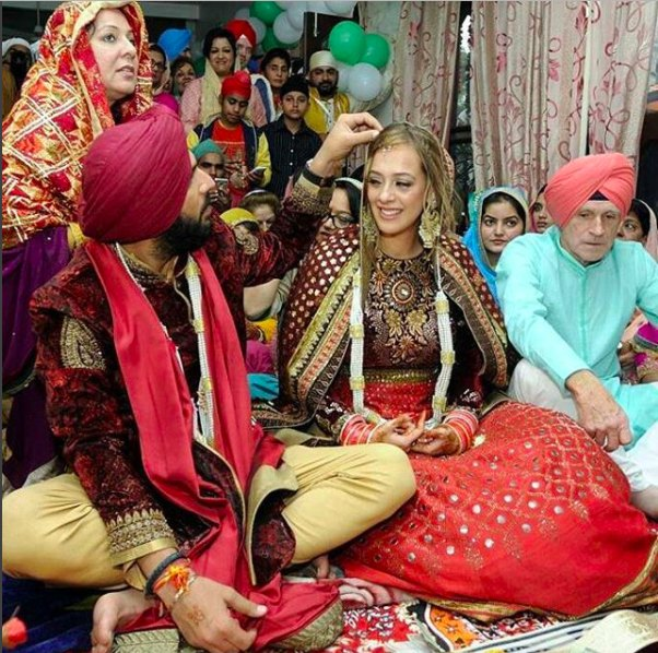 It was a traditional Sikh wedding