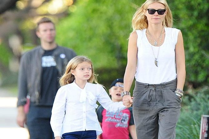 Gwyneth Paltrow and daughter Apple, 11