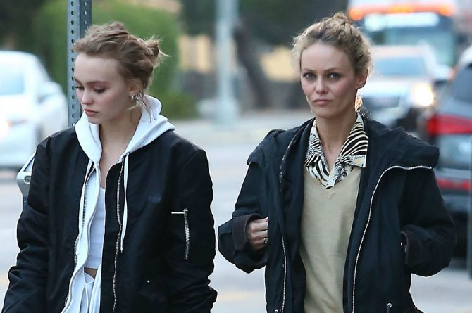 Vanessa Paradis and daughter Lily Rose, 16
