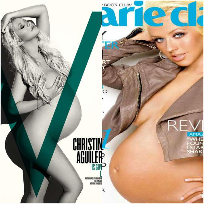Christina Aguilera on Marie Claire and V