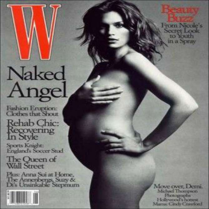 Cindy Crawford on the cover of W