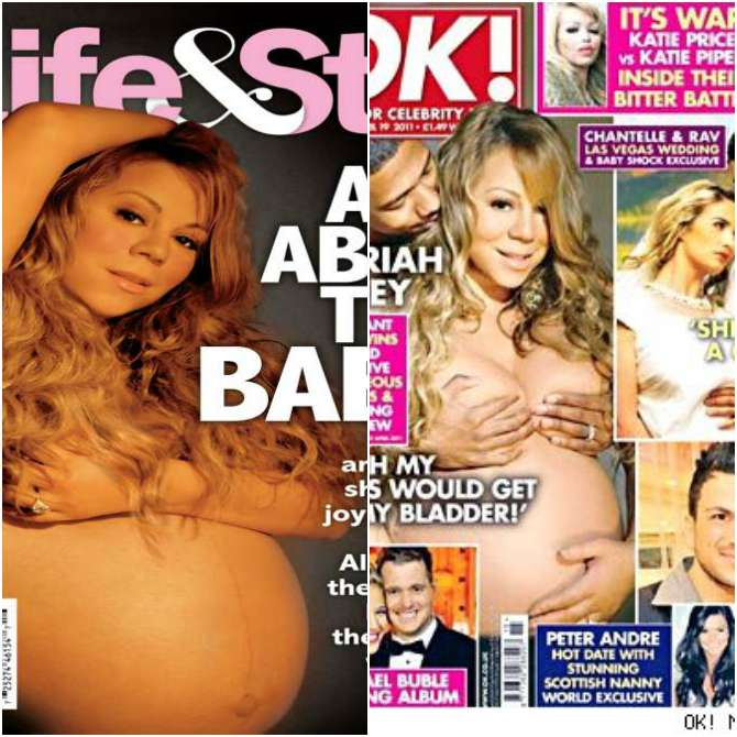 Mariah Carey on the covers of Life & Style and OK!