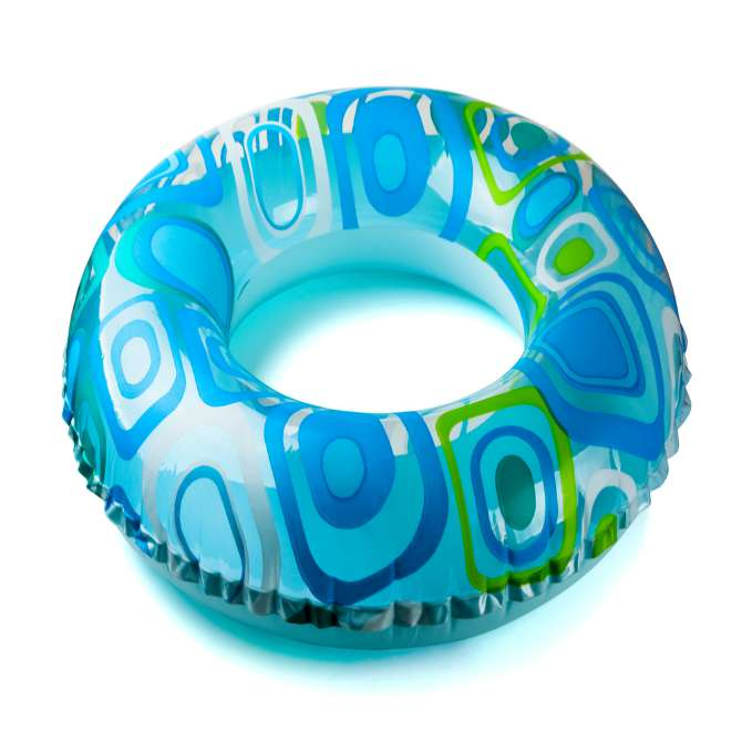 Sit on an inflatable ring