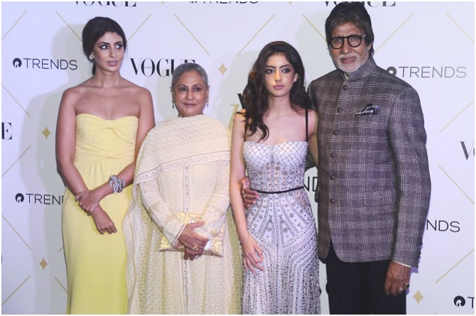 The Bachchans make a grand entry together