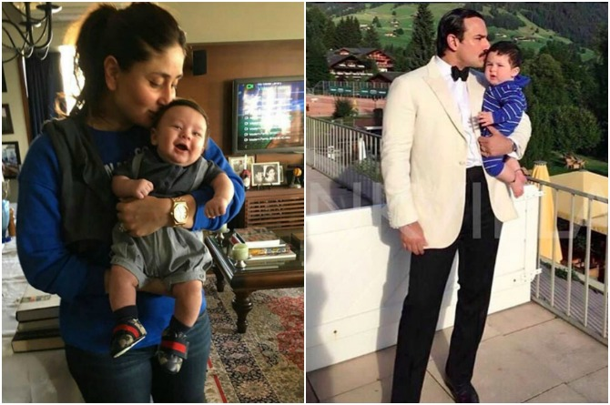 Taimur is living it up with mum and dad