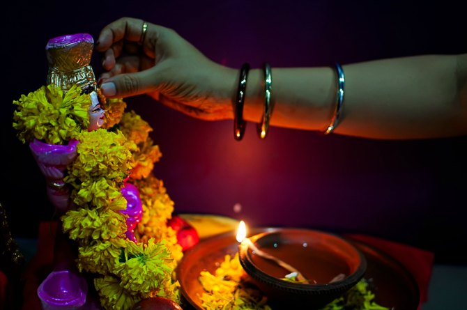Why is Goddess Lakshmi worshipped during this festival?