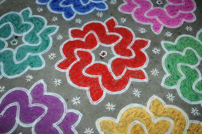 What is the significance of a rangoli?