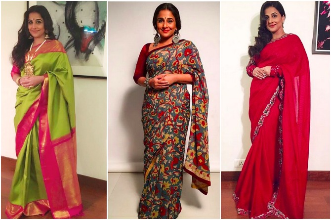 These 7 sarees worn by Vidya Balan are perfect for all mums
