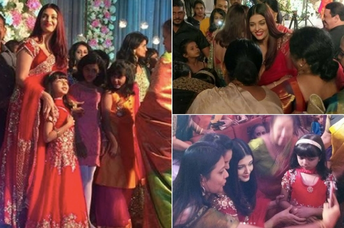 With matching outfits, Aishwarya and Aaradhya steal the show at a family wedding!