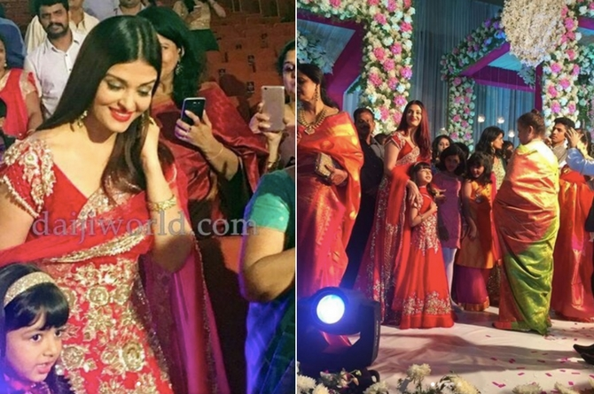 Frenzy at the venue as Aishwarya and Aaradhya reach