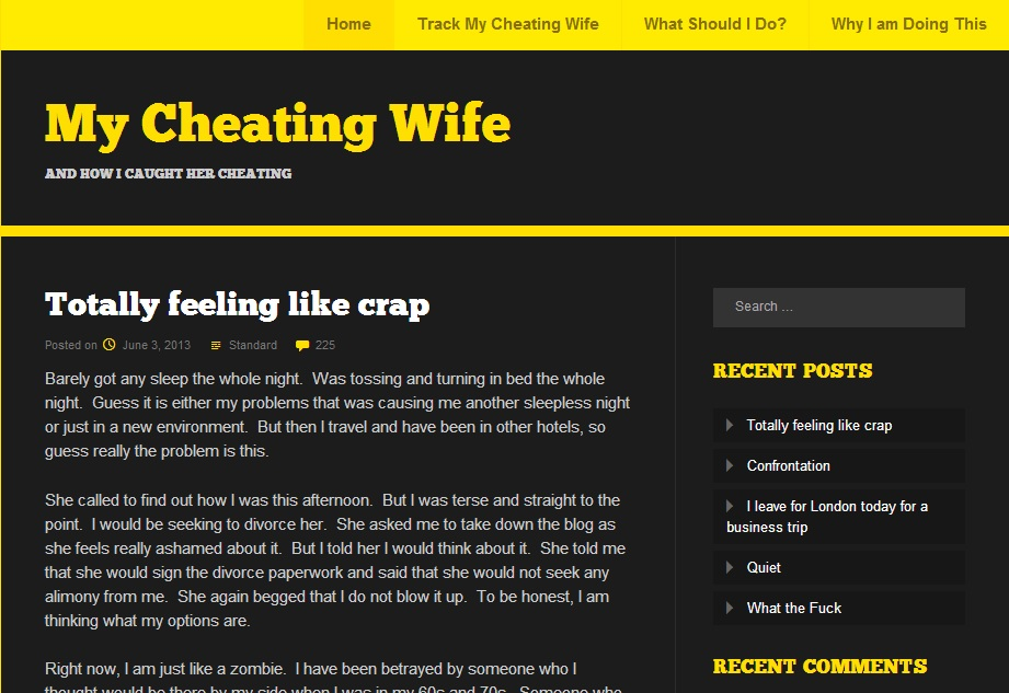 Cheating wife blog