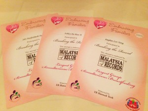 Gift of Love Bazaar 2013 – Malaysia Book of Records